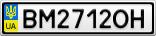 Номерной знак - BM2712OH