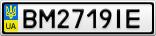 Номерной знак - BM2719IE