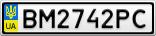 Номерной знак - BM2742PC