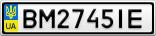 Номерной знак - BM2745IE