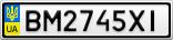 Номерной знак - BM2745XI