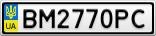 Номерной знак - BM2770PC