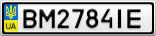 Номерной знак - BM2784IE