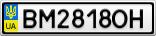Номерной знак - BM2818OH