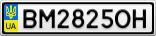 Номерной знак - BM2825OH