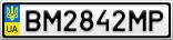Номерной знак - BM2842MP