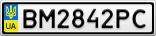Номерной знак - BM2842PC
