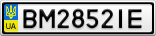 Номерной знак - BM2852IE