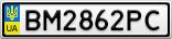 Номерной знак - BM2862PC