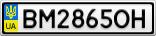 Номерной знак - BM2865OH