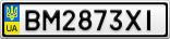 Номерной знак - BM2873XI