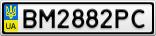 Номерной знак - BM2882PC