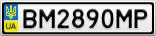 Номерной знак - BM2890MP