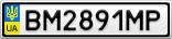 Номерной знак - BM2891MP