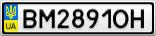 Номерной знак - BM2891OH
