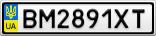Номерной знак - BM2891XT