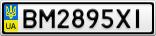 Номерной знак - BM2895XI