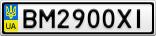 Номерной знак - BM2900XI