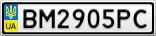 Номерной знак - BM2905PC