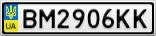 Номерной знак - BM2906KK