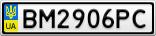 Номерной знак - BM2906PC
