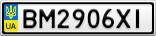 Номерной знак - BM2906XI