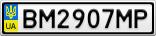 Номерной знак - BM2907MP