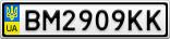 Номерной знак - BM2909KK