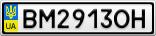 Номерной знак - BM2913OH
