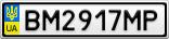Номерной знак - BM2917MP