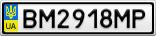 Номерной знак - BM2918MP