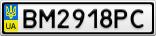 Номерной знак - BM2918PC