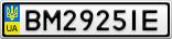 Номерной знак - BM2925IE