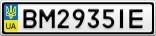 Номерной знак - BM2935IE