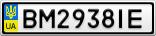 Номерной знак - BM2938IE