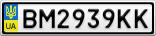 Номерной знак - BM2939KK