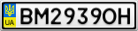 Номерной знак - BM2939OH