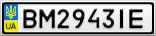 Номерной знак - BM2943IE