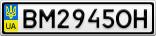Номерной знак - BM2945OH