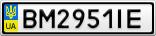 Номерной знак - BM2951IE