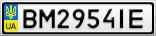 Номерной знак - BM2954IE