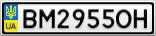 Номерной знак - BM2955OH