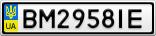 Номерной знак - BM2958IE