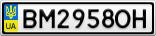 Номерной знак - BM2958OH