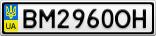 Номерной знак - BM2960OH