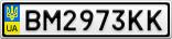Номерной знак - BM2973KK