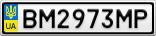 Номерной знак - BM2973MP
