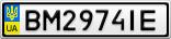 Номерной знак - BM2974IE