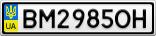 Номерной знак - BM2985OH