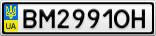 Номерной знак - BM2991OH
